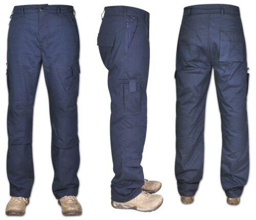 Mens Cargo Combat Work Trouser 100/% Cotton Pant Jogger 8 Pockets Knee pad Pocket
