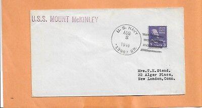 Vornehm U.s.s Mount Mckinley August 3,1946 Prexy Marine Abdeckung Nordamerika Briefmarken