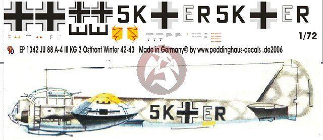1KG 26  Bardufoss 1942-43 Peddinghaus  1//72 1341 Ju 88 A-4 torp