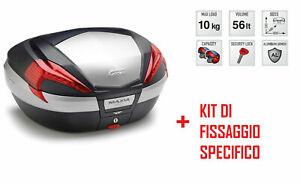 Radient V56n Bauletto Posteriore 56 L + Attacchi Per Honda Vfr 1200 F 2010-2016 Une Grande VariéTé De ModèLes