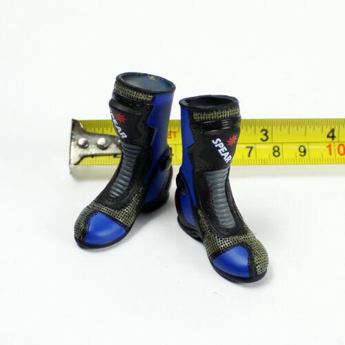 Female Boots w// feet TA37-13 1//6 Scale ZCWO Shimei Blue Biker Girl