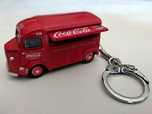 Porte-cle-Citroen-type-H-Coca-Cola-en-metal-dans-son-coffret-idee-cadeau