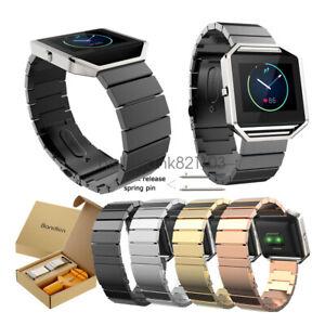 Bandkin-Stainless-Steel-Link-Bracelet-Wrist-Watch-Band-Strap-For-Fitbit-Blaze