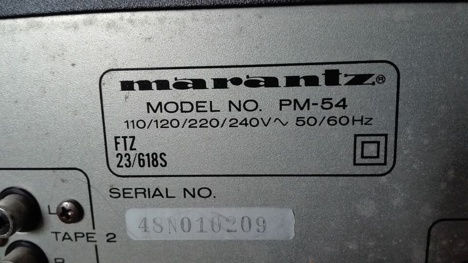 Forstærker, Marantz, PM 54