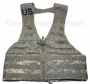Pre-owned Tactical MOLLE II FLC Load Carry Vest ACU Digital Pattern Army