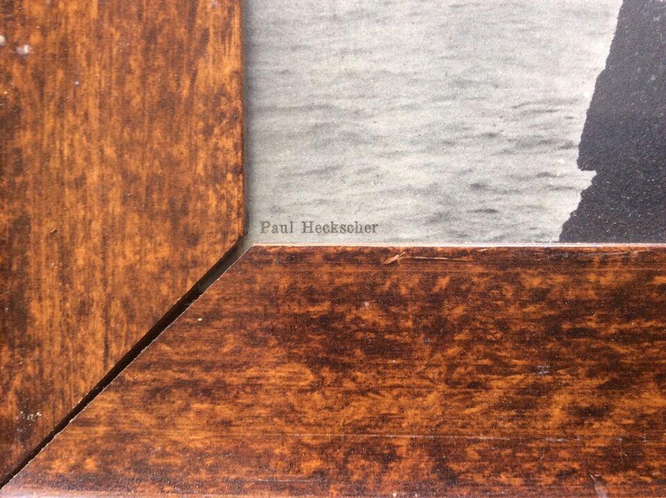 Fotografi, Paul Heckscher, motiv: Bornholm klippeparti