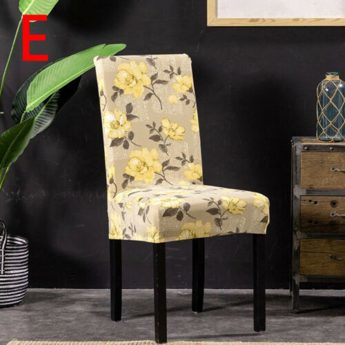 Vintage Printing Seat Cover Chair Spandex Slipcover Protector Dinner Decor Home