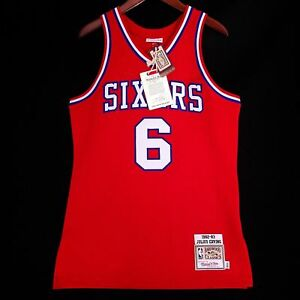 c5bf68b14 100% Authentic Julius Erving Dr J Mitchell   Ness Sixers Jersey Size ...