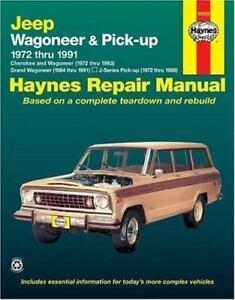 1972 1991 jeep cherokee grand wagoneer j pickup repair service rh ebay com 1988 Jeep Wagoneer Limited Specs Jeep Wagoneer Interior