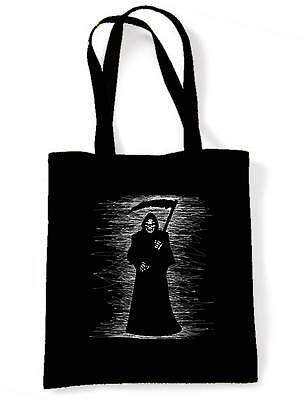 GRIM REAPER SHOULDER BAG - Skeleton Skull Halloween Goth Gothic Shopping Tote