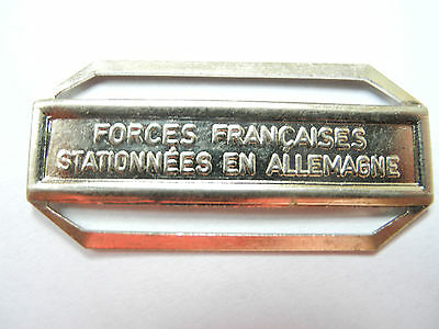 AGRAFE BARRETTE FORCES FRANÇAISES STATIONNÉES EN ALLEMAGNE POINÇON