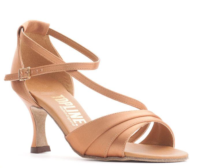 Ladies Tan Or Black Latin Ballroom Dance Shoes 2.5