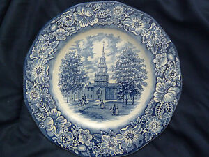 Vintage-1970-039-s-Staffordshire-Ironstone-Liberty-Blue-Dinner-Plate