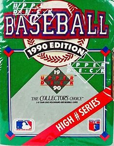 New1990-Upper-Deck-Baseball-Cards-High-Number-Series-Box-Factory-Sealed-701-800