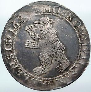 1620-1 SWITZERLAND Swiss Canton SAINT GALLEN Antique Silver 2 Thaler Coin i88147