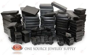Black Swirl Cotton Filled Gift Boxes Jewelry  Box Lots of 12~25~50~100