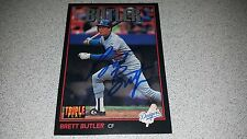 BRETT BUTLER SIGNED 1993 DONRUSS TRIPLE PLAY #136 BASEBALL CARD AUTOGRAPHED