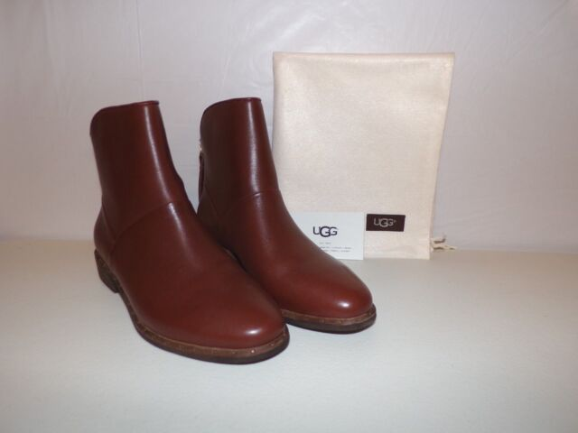 866f6507849 UGG Women's Bruno Leather Ankle BOOTS Medium Brown Size 7 1018942