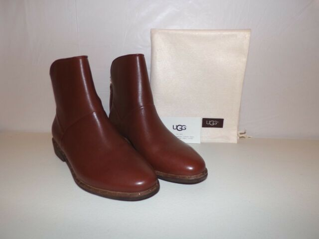 7a303aeaf02 UGG Women's Bruno Leather Ankle BOOTS Medium Brown Size 7 1018942