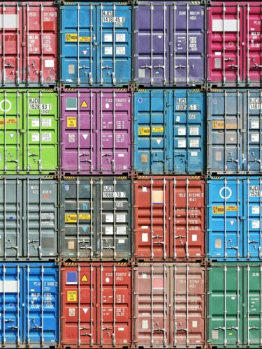 ART PRINT POSTER PHOTO STACK CONTAINER FREIGHT COLLAGE SQUARES LFMP1263