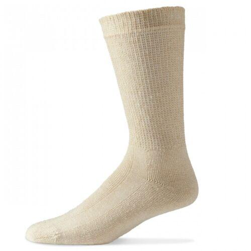 10-13 13-15 TAN DIABETIC CREW SOCKS  12 PAIR PHYSICIANS/' CHOICE  Size 9-11