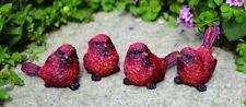 3rd Small Resin Cardinal Bird Figurine (1 bird only)