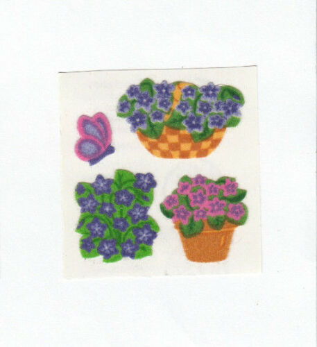 You Choose Vintage Sandylion Fuzzy Flower Stickers Bee Ladybug Violet Butterfly