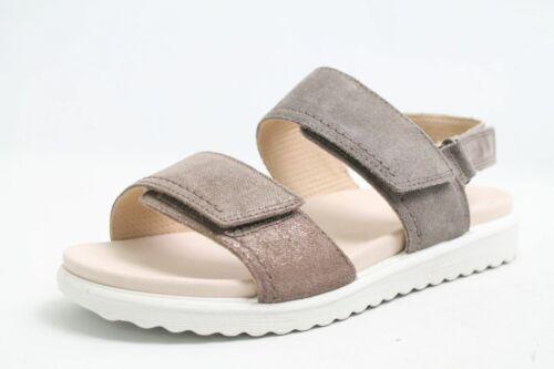 Grau Weichbettung Schuhweite Echt Legero Sandalen Nubuk Leder G Klettverschluss eEWDH2I9bY