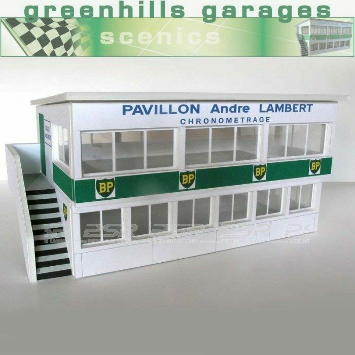 Greenhills Scalextric Slot Car Building Reims Press Box Kit 1 32 Scale - Bran...