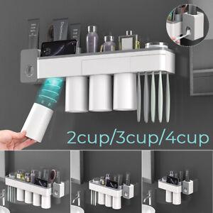 2-3-4-Cups-Toothbrush-Toothpaste-Tumbler-Holder-Bathroom-Shelf-Rack-Organiser
