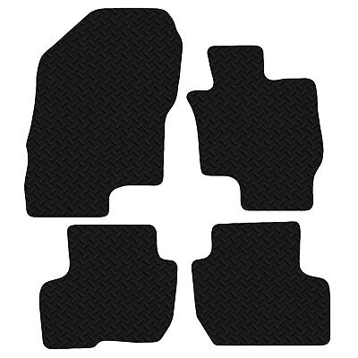 Mitsubishi Outlander Phev 2014-on Fully Tailored Deluxe Rubber Boot Mat in Black