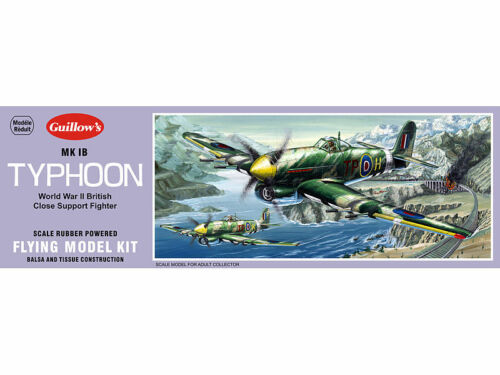 Balsa Wood Model Airplane Kit WWII Guillow/'s Hawker MK 1B Typhoon  GUI-906