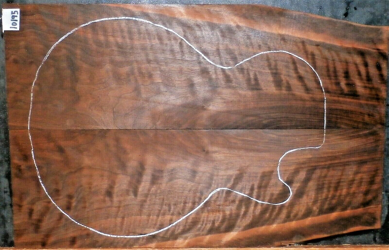 Dachte Claro Walnut Wood 10195 Luthier Instrument Lumber Solid Body Guitar Top