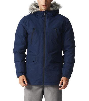 1298 ADIDAS SDP Fur Herren Winterjacke Outdoor Warm Navy