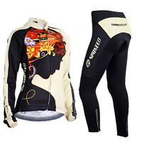 Women Long Cycling Jersey Sets Bicycle Wear Cycle Pants 3d Padded Bike Clothes