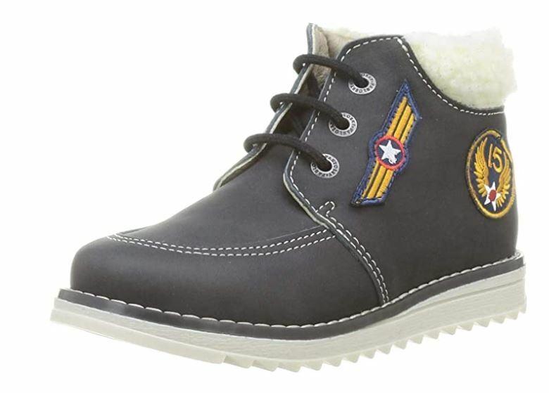 Pablosky 598414 Aviator Lace Up Ankle Boots Black UK Size 5 (EU 38, USA 6)