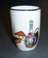 Royal Sealy Cheese and Wine glass Capri Sangria Cup Tumbler Vintage