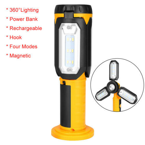 LED COB Work Light USB Rechargeable Magnetic Inspection Lamp Torch Power Bank UK