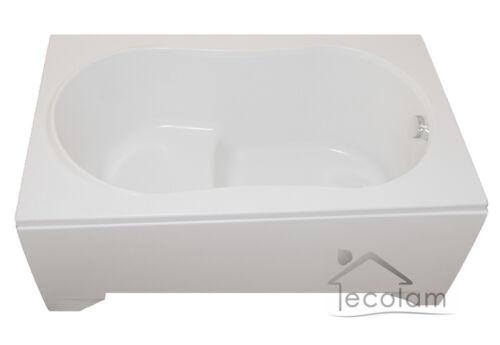 Badewanne Wanne Rechteck Sitzbadewanne mit Sitz 130 x 75 cm Schürze Ab//Ü Acryl