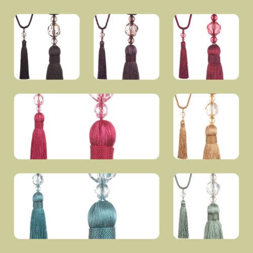 Une paire de Jones intérieurs Pixi corde Tassel designer Rideau Embrasses