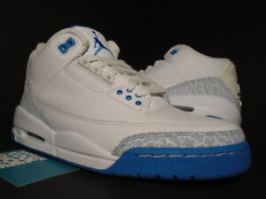 low priced 69a2b f71ff Details about WOMEN NIKE AIR JORDAN III 3 RETRO WHITE HARBOR BOARDER BLUE  315296-142 NEW 6.5 8