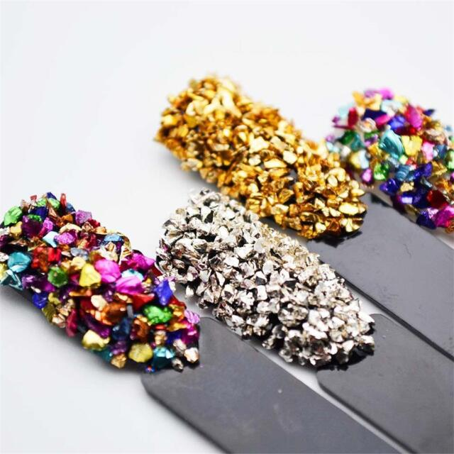 3D Nail Art Decor Broken Glass Rhinestones for Nails Gems Nail Art Rhinestones
