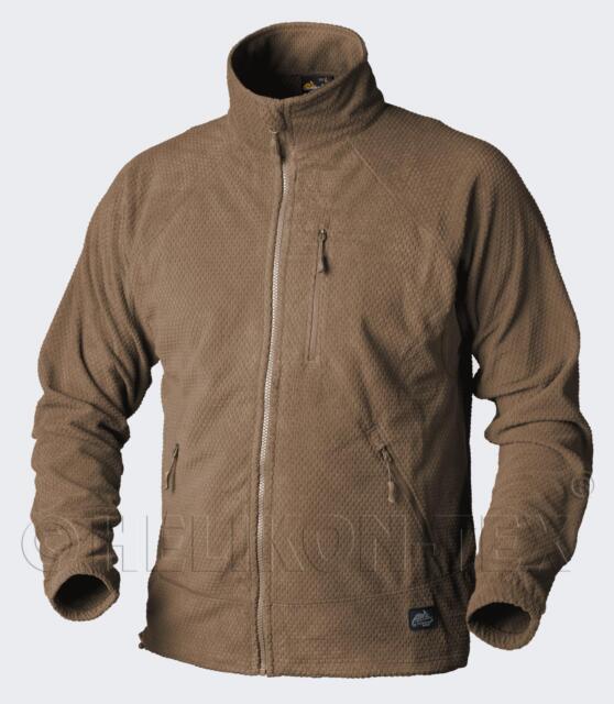 HELIKON TEX ALPHA GRID Lightweight Outdoor FLEECE JACKE COYOTE Jacket 2XL XXL