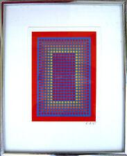 1985 RICHARD ANUSZKIEWICZ acrylic SILKSCREEN serigraph on Paper Board LTD ED