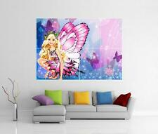 BARBIE BUTTERFLY GIANT WALL ART PHOTO PICTURE PRINT POSTER