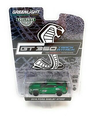 GREENLIGHT 30192 2016 FORD SHELBY GT 350 1//64 TRACK ATTACK RACING SCHOOL #21