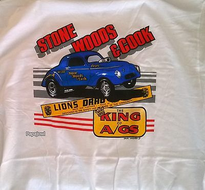 Stone Woods Cook Lions Drag Strip Racing T Shirt 40 41 Willys 1941 Coupe Cookie
