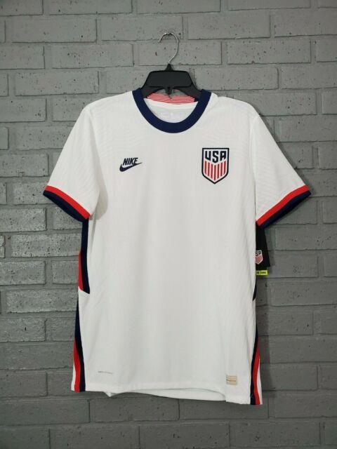 Men Nike USA VaporKnit Match Home Jersey White Soccer 2020-21 CD0592-100 Size M
