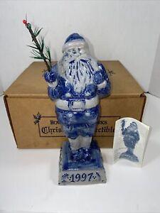 *1997* Rowe Pottery Works Annual Santa~RETIRED~* RPW  Salt Glazed