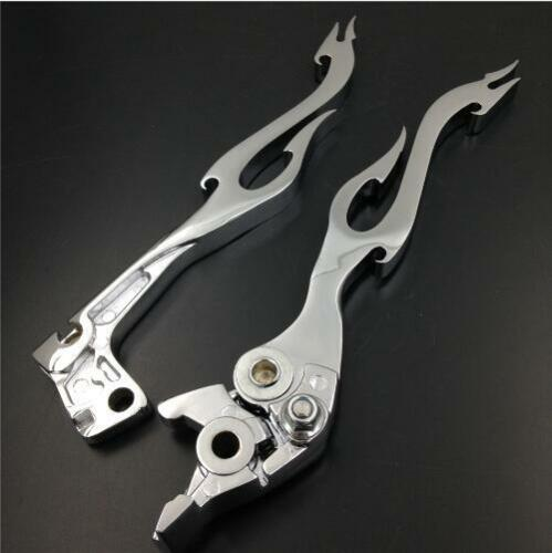Pair Chrome Brake Clutch levers For Suzuki Katana 600 750F GSX-R 600 750 SV650